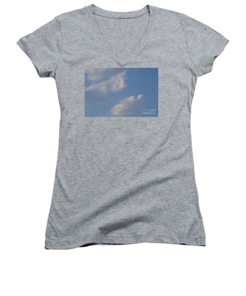 Clouds 13 Women's V-Neck T-Shirt (Junior Cut) by Rod Ismay