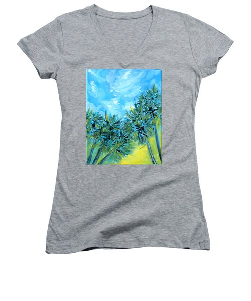 Collection Art  For Health And Life. Painting 10  Women's V-Neck (Athletic Fit)