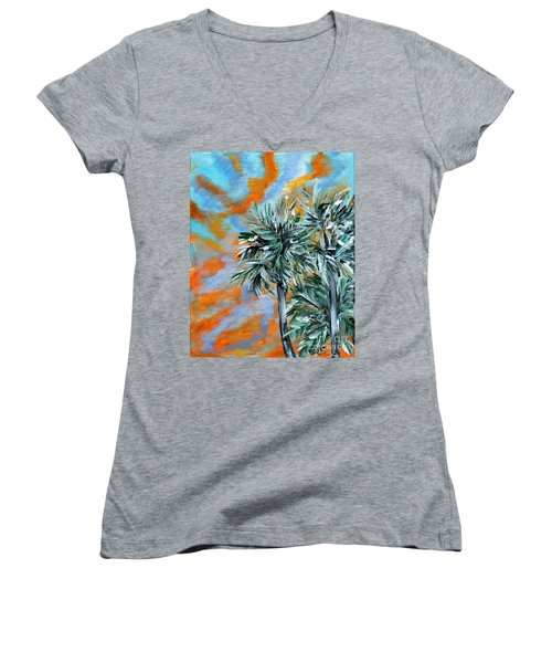 Collection. Art For Health And Life. Painting 2 Women's V-Neck