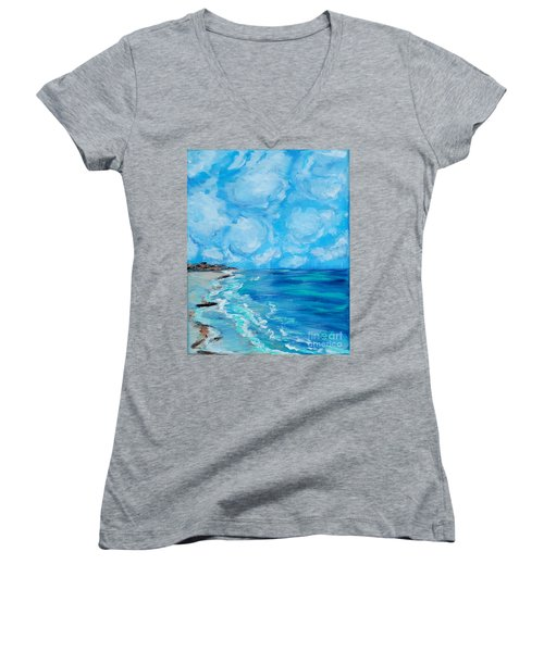 Collection. Art For Health And Life. Painting 4 Women's V-Neck (Athletic Fit)