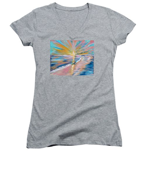 Collection. Art For Health And Life. Painting 5 Women's V-Neck (Athletic Fit)