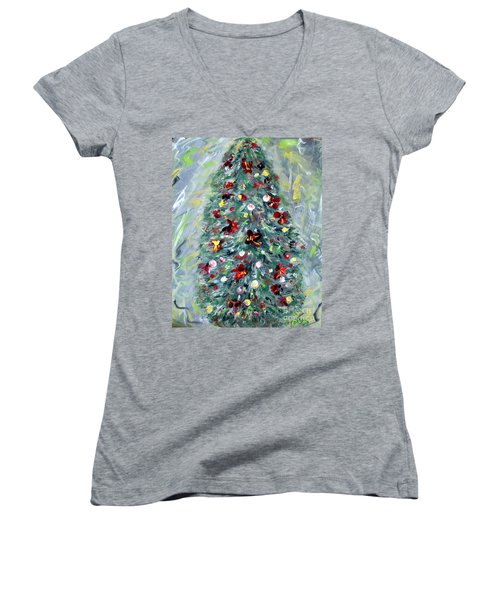 Christmas Tree. Green Women's V-Neck (Athletic Fit)