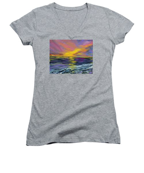 Collection Art For Health And Life. Painting 8 Women's V-Neck (Athletic Fit)
