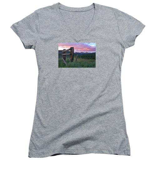 Colorado Glory Women's V-Neck T-Shirt (Junior Cut) by Ronda Kimbrow