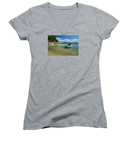 Colorful Boat Women's V-Neck