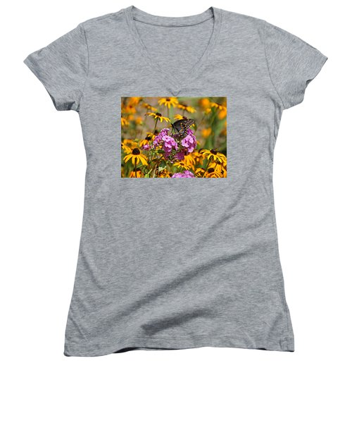 Colorful Women's V-Neck