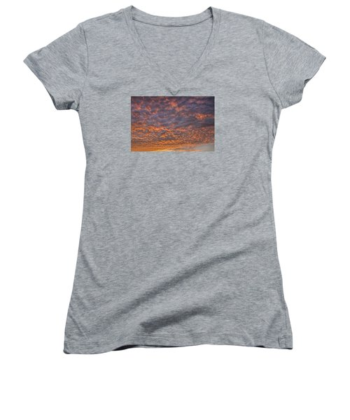 Women's V-Neck T-Shirt (Junior Cut) featuring the photograph Colorful by Wanda Krack
