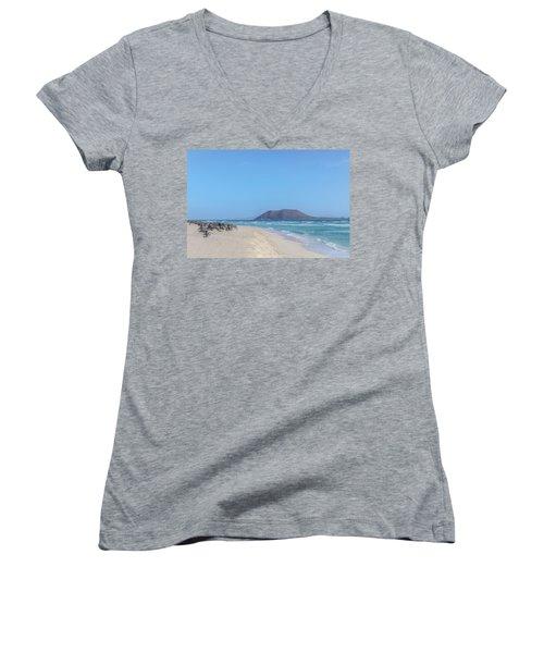 Corralejo - Fuerteventura Women's V-Neck T-Shirt
