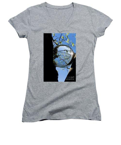 Crystal Reflection Women's V-Neck T-Shirt (Junior Cut)