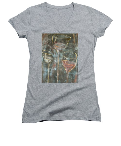Dancing Glasses Women's V-Neck T-Shirt