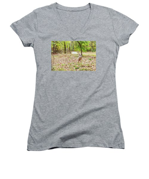 Deer Me, Are You In My Space? Women's V-Neck