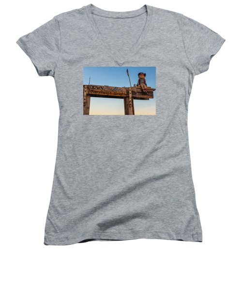 Down The Shore Women's V-Neck