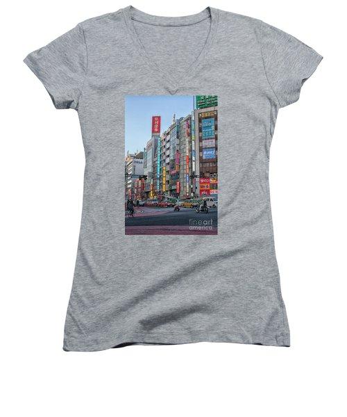 Downtown Tokyo Women's V-Neck T-Shirt