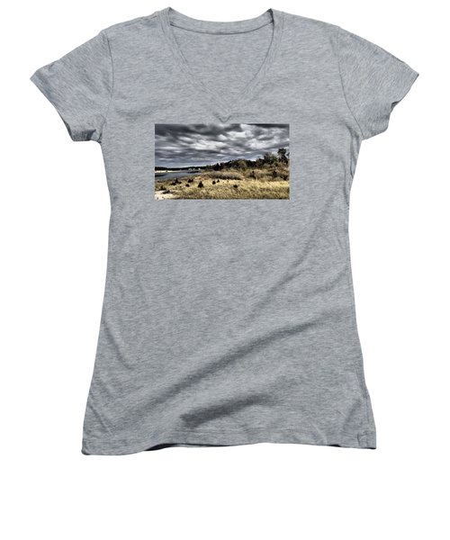 Dramatic Landscape At Elizabeth Morton Women's V-Neck (Athletic Fit)