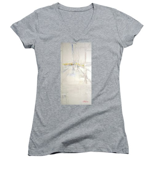 Early Winter In Manhattan Women's V-Neck