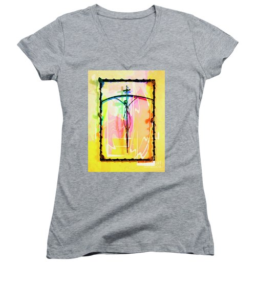 Women's V-Neck T-Shirt (Junior Cut) featuring the photograph Easter Remembrance by Al Bourassa