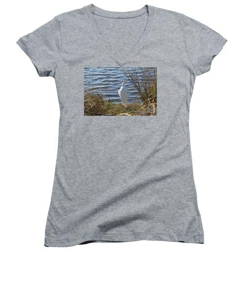 Egret Women's V-Neck T-Shirt
