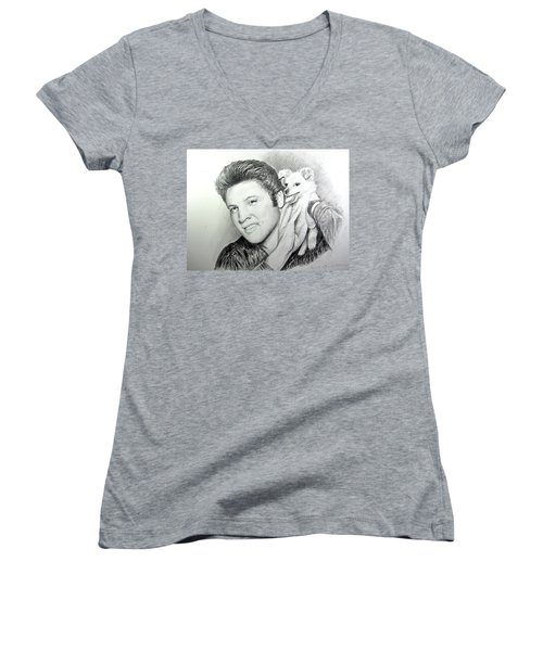 Elvis And Sweet-pea Women's V-Neck (Athletic Fit)