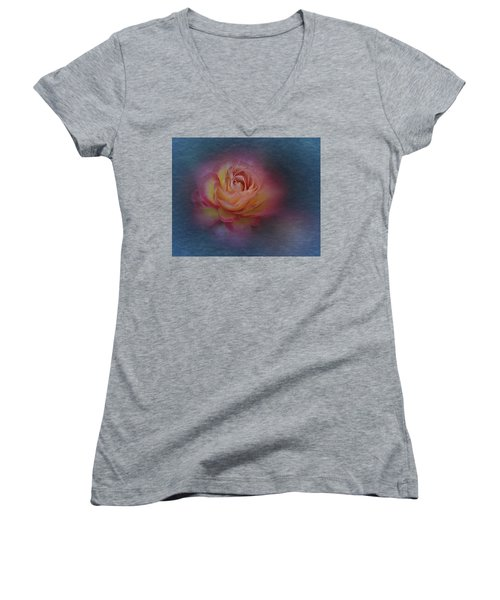 End Of September 2016 Rose Women's V-Neck T-Shirt (Junior Cut) by Richard Cummings