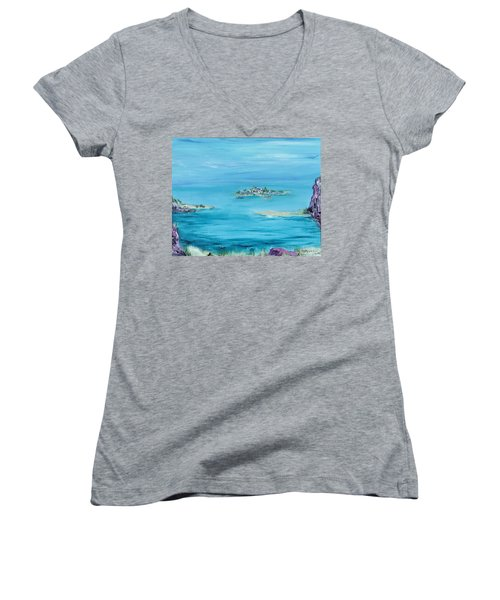 Ethereal Women's V-Neck T-Shirt (Junior Cut) by Regina Valluzzi