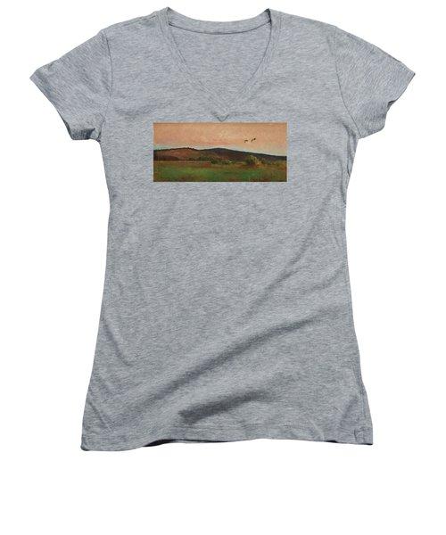 Eurasian Woodcocks Women's V-Neck T-Shirt