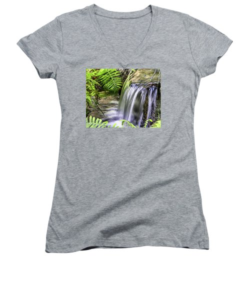 Falling Water Women's V-Neck T-Shirt