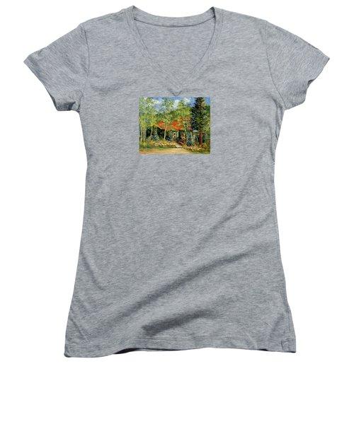 Fawnbrook Inn Women's V-Neck T-Shirt (Junior Cut)