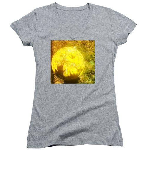 Fire Hydrant #4 Women's V-Neck T-Shirt (Junior Cut) by Suzanne Lorenz