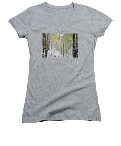 First Snow Fall Women's V-Neck (Athletic Fit)