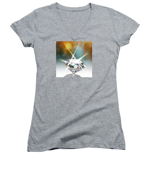 Flashing Diamond Women's V-Neck (Athletic Fit)