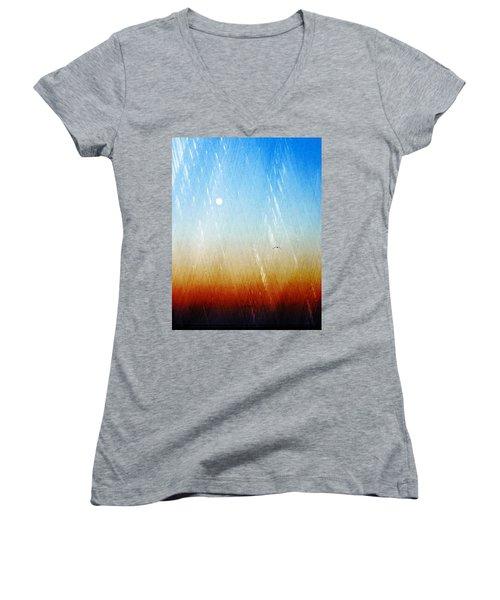 Flight Women's V-Neck T-Shirt (Junior Cut) by Allen Beilschmidt