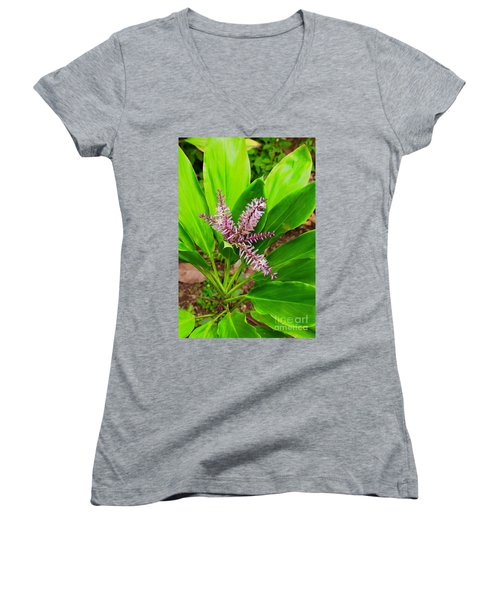 Flowering Ti Plant Women's V-Neck (Athletic Fit)