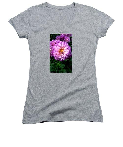 Women's V-Neck T-Shirt (Junior Cut) featuring the photograph Flowers by Bernd Hau