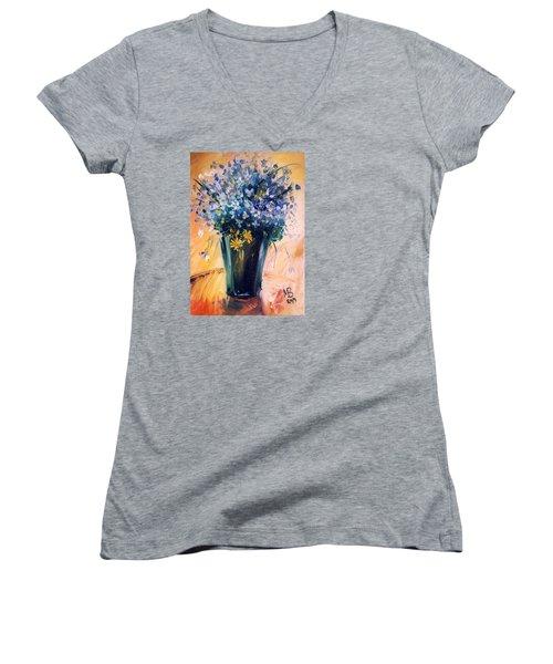 Flowers Women's V-Neck T-Shirt
