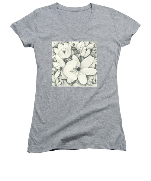 Flowers Pencil Women's V-Neck