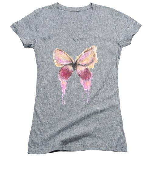 Flutterby  Women's V-Neck T-Shirt