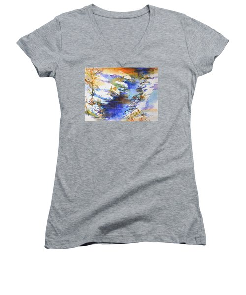 For Love Of Winter #3 Women's V-Neck (Athletic Fit)