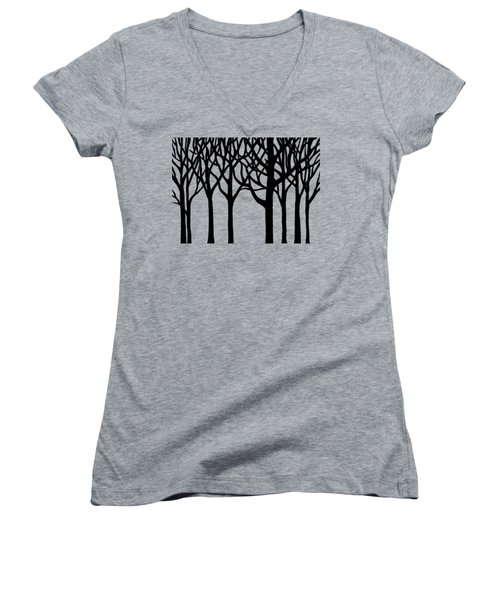 Forest Women's V-Neck T-Shirt