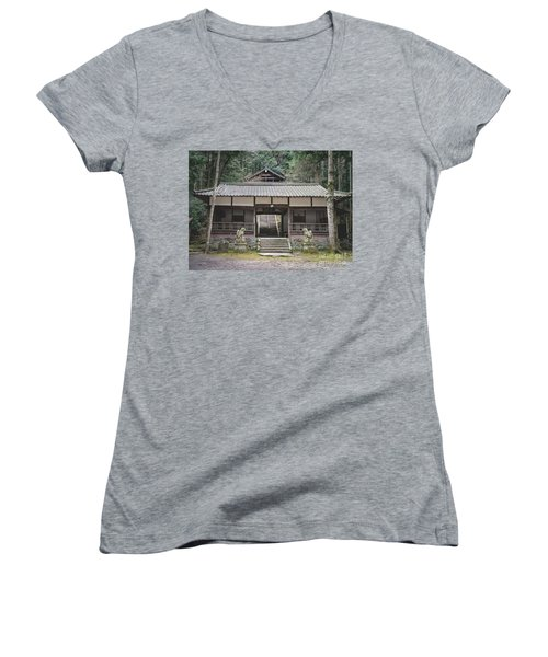 Forrest Shrine, Japan Women's V-Neck T-Shirt