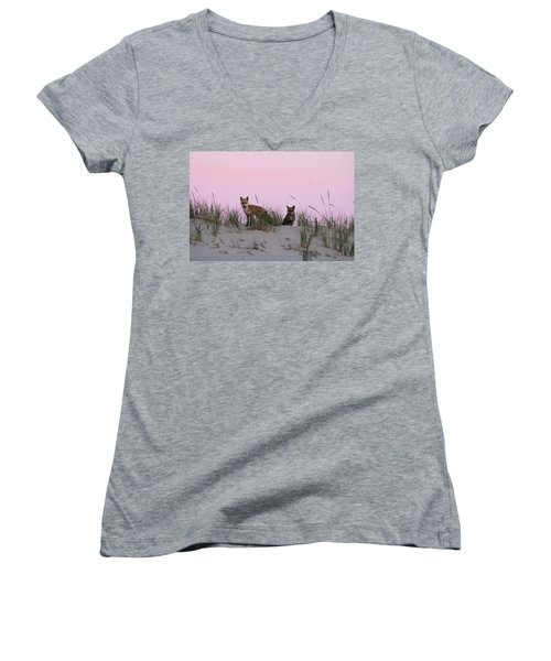 Fox And Vixen Women's V-Neck (Athletic Fit)