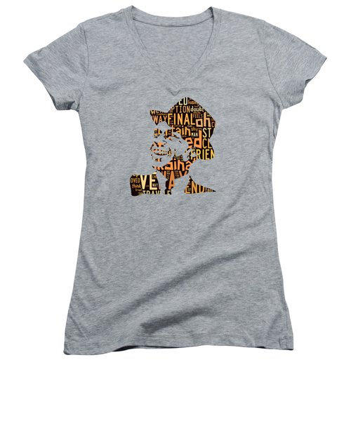 Frank Sinatra I Did It My Way Women's V-Neck T-Shirt (Junior Cut)