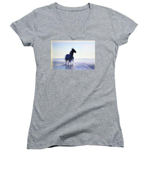 Freedom Women's V-Neck T-Shirt (Junior Cut) by Allen Beilschmidt