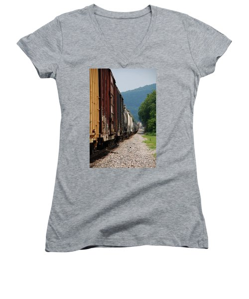 Freight Train Women's V-Neck (Athletic Fit)
