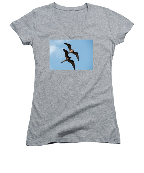 Frigates At Isla Mujeres Women's V-Neck (Athletic Fit)