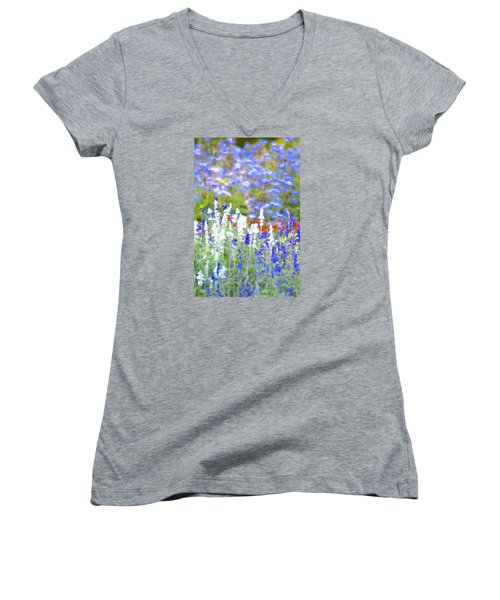 Garden Impression Women's V-Neck T-Shirt (Junior Cut) by Tim Good
