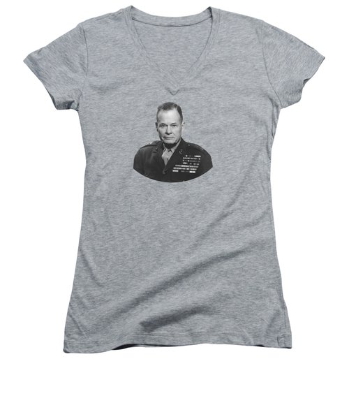 General Lewis Chesty Puller Women's V-Neck T-Shirt (Junior Cut) by War Is Hell Store