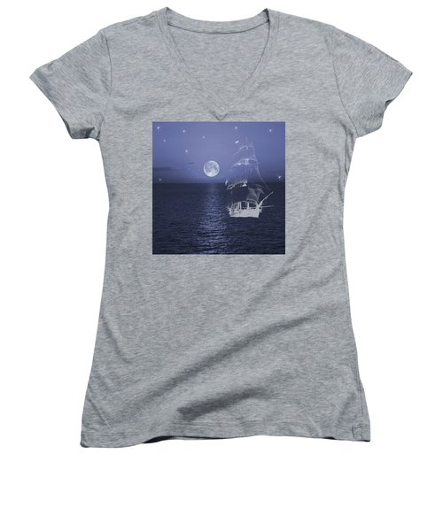 Ghost Ship Women's V-Neck
