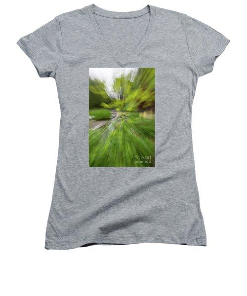 Giverny Monet's Garden Women's V-Neck T-Shirt