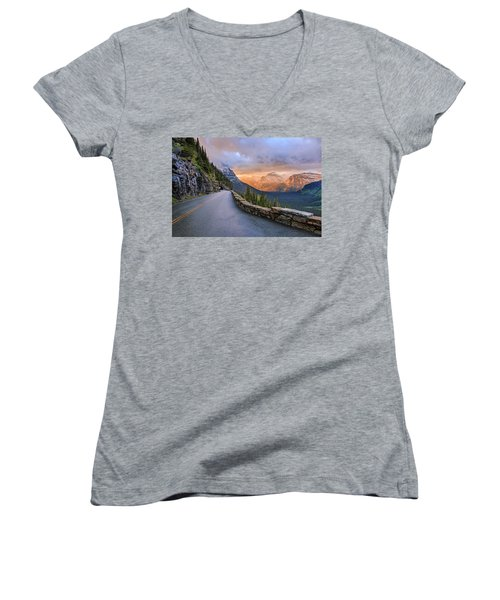 Going To The Sun Women's V-Neck (Athletic Fit)