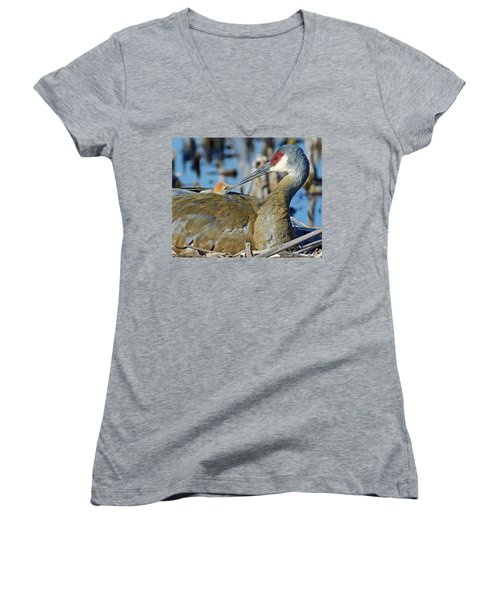 Good Morning Women's V-Neck (Athletic Fit)